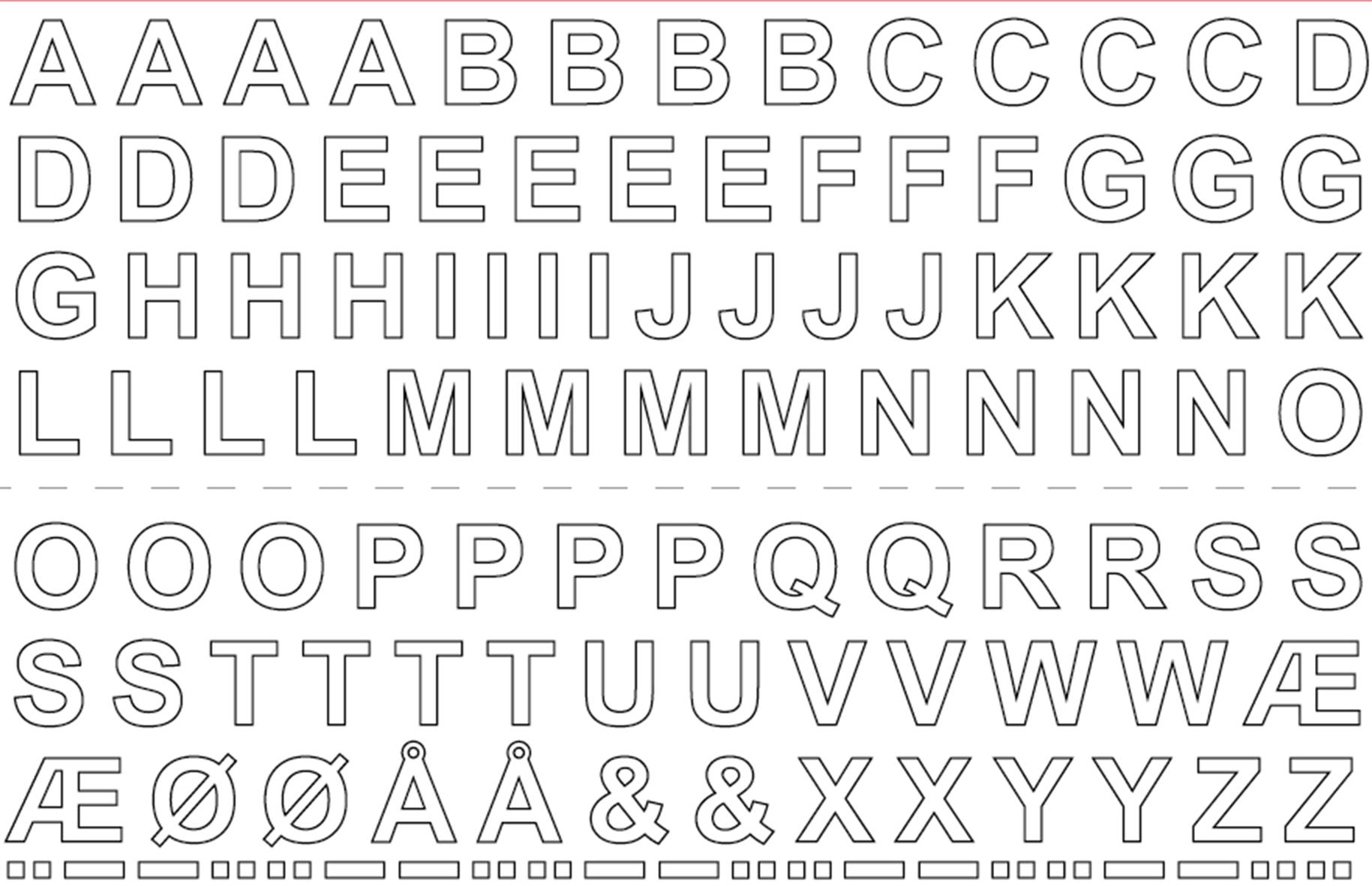 Bokstaver og tall i tape selvklebende folie klistremerker